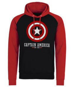 Sweatshirt à capuche Marvel Comics - Captain America Logo de couleur Noir/Rouge