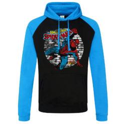 Sweatshirt à capuche Marvel Comics - Spider-Man de couleur Noir/Bleu