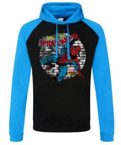 7ef1e8498f Sweatshirt à capuche Marvel Comics - Spider-Man de couleur Noir/Bleu ...
