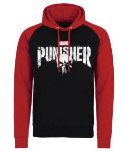 Sweatshirt à capuche Marvel's The Punisher Logo de couleur Noir/Rouge