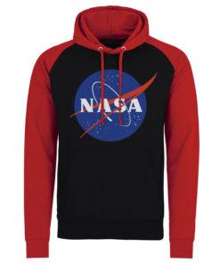 Sweatshirt à capuche NASA Insignia de couleur Noir/Rouge