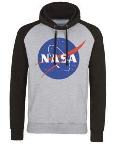 Sweatshirt à capuche NASA Insignia de couleur Gris/Noir