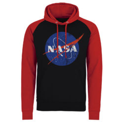 Sweatshirt à capuche NASA Washed Insignia de couleur Noir/Rouge