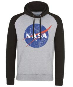 Sweatshirt à capuche NASA Washed Insignia de couleur Gris/Noir