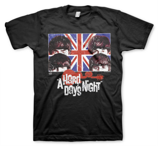 T-Shirt A Hard Days Night de couleur Noir