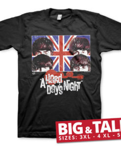 T-shirt A Hard Days Night grandes Tailles de couleur Noir
