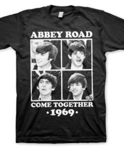 T-Shirt Abbey Road - Come Together de couleur Noir
