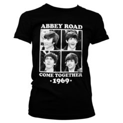 T-Shirt Abbey Road - Come Together pour Femme de couleur Noir