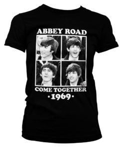 T-Shirt Abbey Road - Come Together pour Femme de couleur Noir