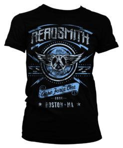 T-Shirt Aerosmith - Aero Force One pour Femme de couleur Noir