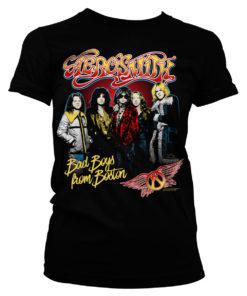 T-Shirt Aerosmith Band pour Femme de couleur Noir
