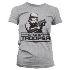 T-Shirt Aiming Stormtrooper pour Femme de couleur Gris Chiné