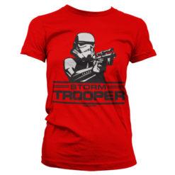 T-Shirt Aiming Stormtrooper pour Femme de couleur Rouge