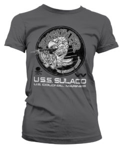 T-Shirt Aliens - Bugstomper pour Femme de couleur Gris Foncé
