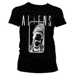 T-Shirt Aliens pour Femme de couleur Noir