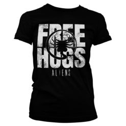 T-Shirt Aliens - Free Hugs pour Femme de couleur Noir