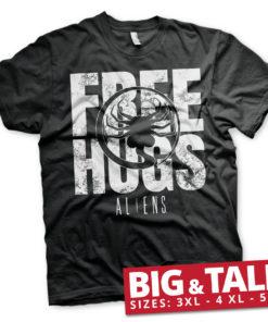 T-shirt Aliens - Free Hugs grandes Tailles de couleur Noir
