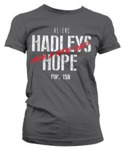 T-Shirt Aliens - Hadleys Hope pour Femme de couleur Gris Foncé