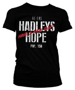 T-Shirt Aliens - Hadleys Hope pour Femme de couleur Noir
