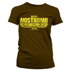 T-Shirt Aliens - USCSS Nostromo pour Femme de couleur Marron