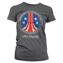 T-Shirt Aliens - USS Sulaco pour Femme de couleur Gris Foncé