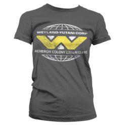 T-Shirt Aliens - Wayland-Yutani Corp. pour Femme de couleur Gris Foncé