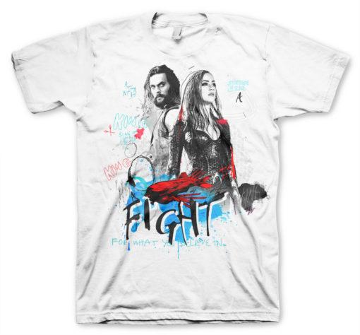 T Shirt Aquaman - Believe de couleur Blanc
