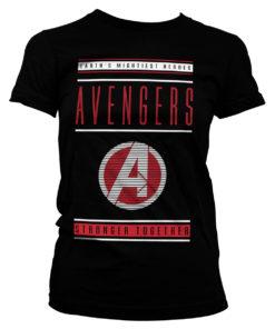 T-Shirt Avengers - Stronger Together pour Femme de couleur Noir