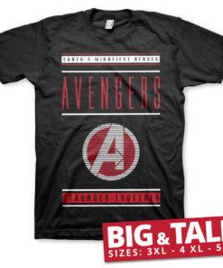 T-shirt Avengers - Stronger Together grandes Tailles de couleur Noir