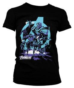 T-Shirt Avengers - Thanos Grip Endgame pour Femme de couleur Noir