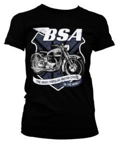 T-Shirt B.S.A. 650 Shield pour Femme de couleur Noir