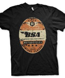 T-Shirt B.S.A. - Birmingham Small Arms Co. de couleur Noir