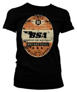 T-Shirt B.S.A. - Birmingham Small Arms Co. pour Femme de couleur Noir
