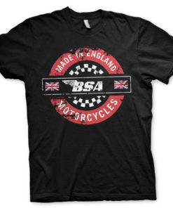 T-Shirt B.S.A. - Made In England de couleur Noir