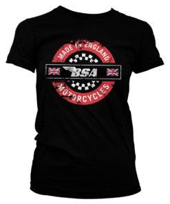 T-Shirt B.S.A. - Made In England pour Femme de couleur Noir