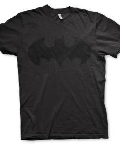 T-shirt Batman Inked Logo grandes Tailles de couleur Noir