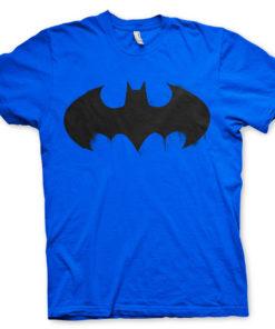 T-shirt Batman Inked Logo grandes Tailles de couleur Bleu