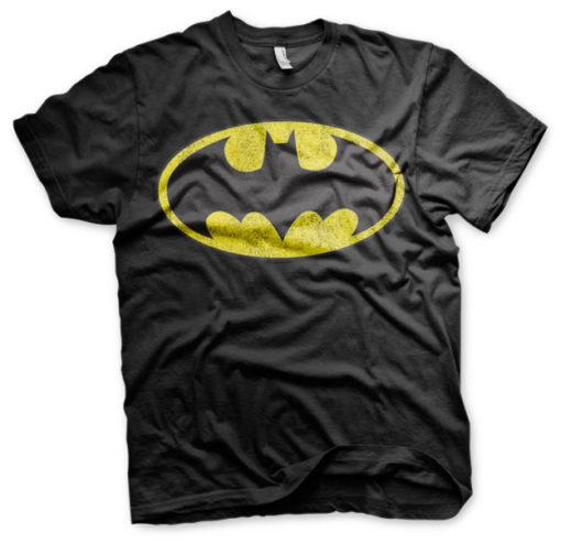T-shirt Batman Logo grandes Tailles de couleur Noir