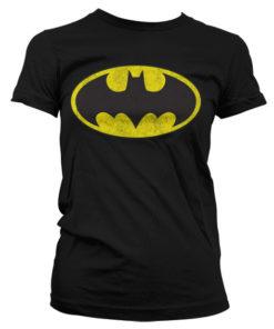 T-Shirt Batman Logo pour Femme de couleur Noir