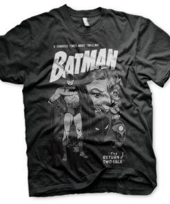 T-Shirt Batman - Return Of Two-Face de couleur Noir