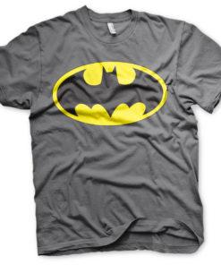 T-Shirt Batman Signal Logo de couleur Gris Foncé