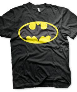 T-Shirt Batman Signal Logo de couleur Noir