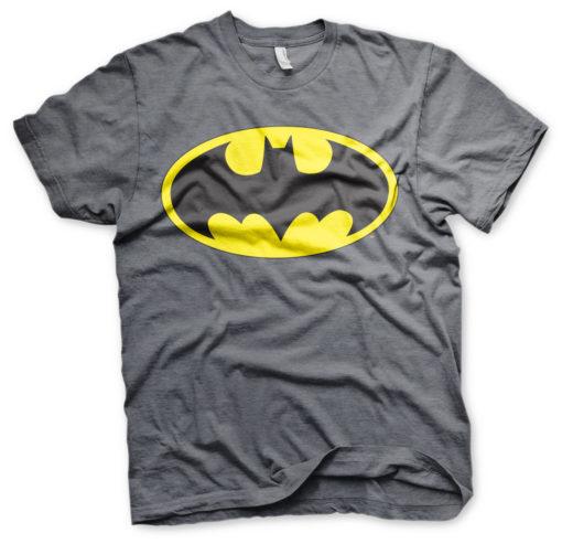 T-Shirt Batman Signal Logo de couleur Gris Sombre