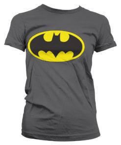 T-Shirt Batman Signal Logo pour Femme de couleur Gris Foncé