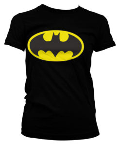 T-Shirt Batman Signal Logo pour Femme de couleur Noir