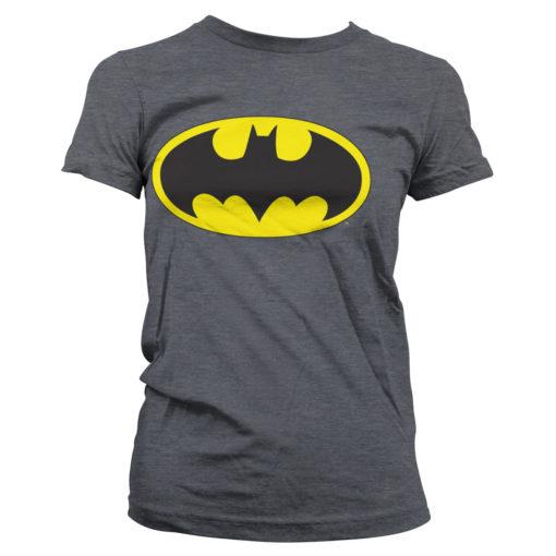 T-Shirt Batman Signal Logo pour Femme de couleur Gris Sombre