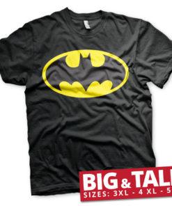T-shirt Batman Signal Logo grandes Tailles de couleur Noir