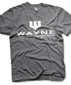 T-Shirt Batman - Wayne Industries Logo de couleur Gris Foncé