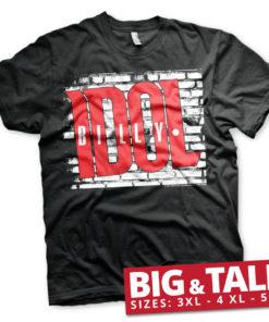 T-shirt Billy Idol Logo grandes Tailles de couleur Noir