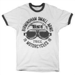 T Shirt Birmingham Small Arms Goggles Ringer  de couleur Blanc/Noir